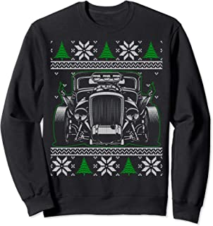 Classic Hot Rod Car Lovers Ugly Christmas Sweatshirt Gifts