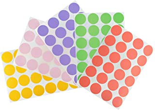 ChromaLabel 3/4 inch Color-Code Dot Labels on Sheets | 5 Assorted Colors | 1,200/Variety Pack (Pastel)