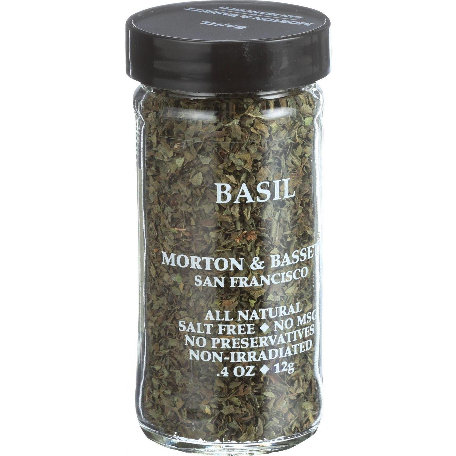 Morton & Bassett Basil, .4-Ounce jar