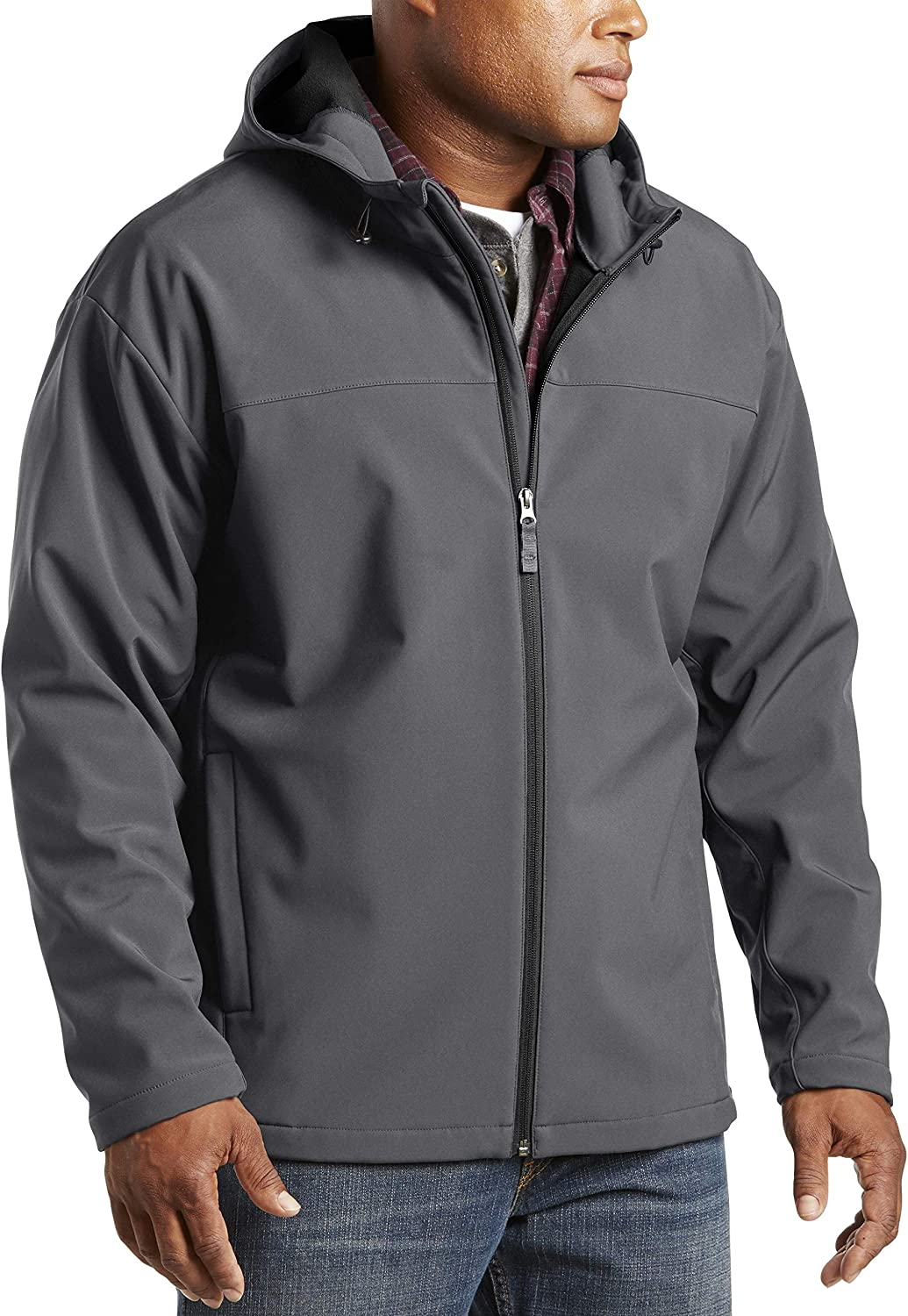 Harbor Long Beach Mall Bay by DXL Outstanding Big and Hooded Jacket Bonded Tall Fleece