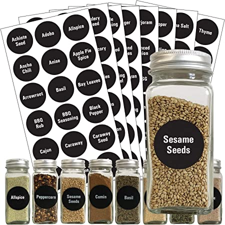 274 Stickers Spice Herb Storage Jar Labels Stickers Decals Pantry Label Stickers