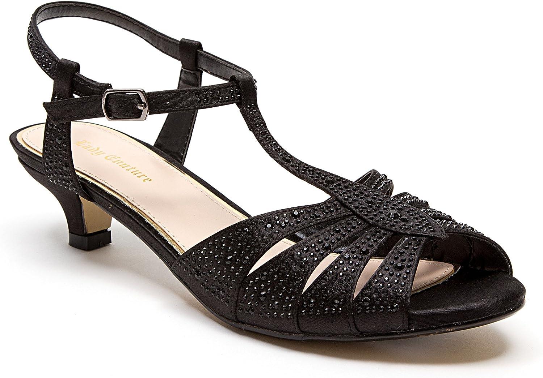 Lady Couture Dresty Kitten Heel Sandaler med Rhinestone Kvinnliga skor skor skor av Betty  kampanjer