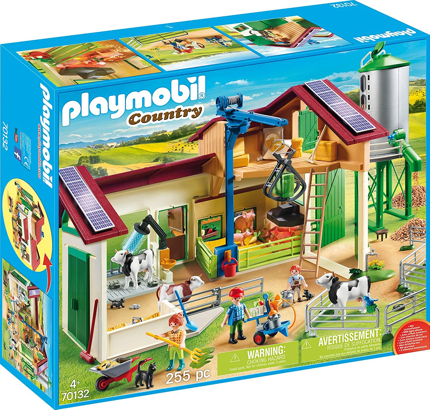 Playmobil 70132 Country Large Farm with Silo Multi-Coloured