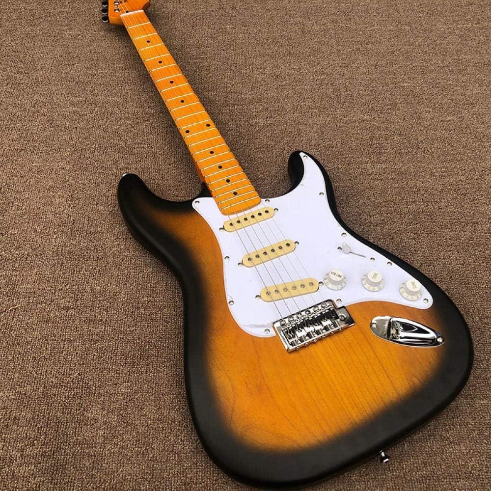 YYYSHOPP Guitarras y Engranajes Cuerpo De Madera De Guitarra Eléctrica, Pintura Mate Guitarra Eléctrica Fijada De Arce Guitarras clásicas (Color : Guitar, Size : 41 Inches)
