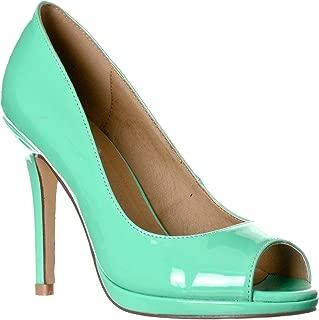 mint green platform heels