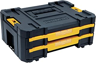 DEWALT TSTAK Tool Storage Organizer, Double Drawers (DWST17804) , Black