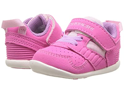 Tsukihoshi Kids Racer (Infant/Toddler) (Fuchsia/Pink) Girls Shoes