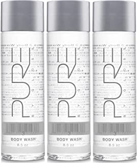 Pure by Gloss Body Wash – Luxurious Cleansing, Purifying & Moisturizing Liquid Soap for All Skin Types – Fresh Lemon Scent – 8.7oz, 3 Pack