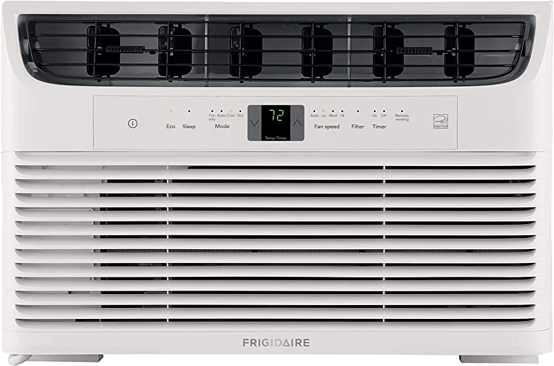 FRIGIDAIRE Energy Star 8 000 BTU 115V Window Mounted Mini Compact Air Conditioner With Full Function Remote Control White