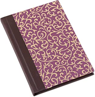 NOVICA Leaf and Tree Cotton and Leather Journal 7
