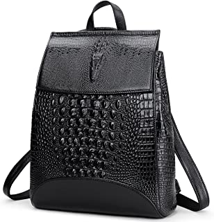 New Fashion Casual Women Genuine Leather Backpack Shoulder Bag (Black2)