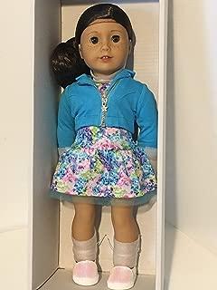 American Girl - 2017 Truly Me Doll: Light Skin, Freckles, Dark Brown Hair, Hazel Eyes DN55