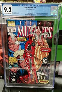 The New Mutants #98 CGC 9.2 Comic Book 1st Appearance of Deadpool