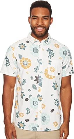 Short Sleeve Sunset Floral Woven