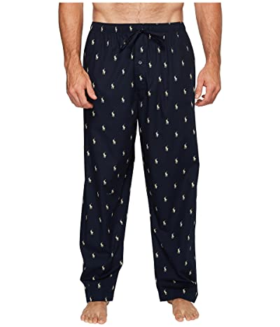 Polo Ralph Lauren Big All Over Pony Player Woven Pants (Navy/White Polo Player) Men
