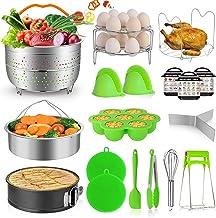 MIBOTE 19PCS Pressure Cooker Accessories Set fits Instant Pot 5,6,8 Qt, Steamer Baskets,..