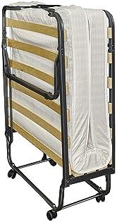 Linon Home Dcor Linon Memory Foam Luxor Folding Bed, Single, Beige