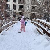Rouge Enfants Snowboard Neige Sledge Conseil Set 12 Pouces Draisienne Scooter Pi/èces Formation V/élo Ski Walker