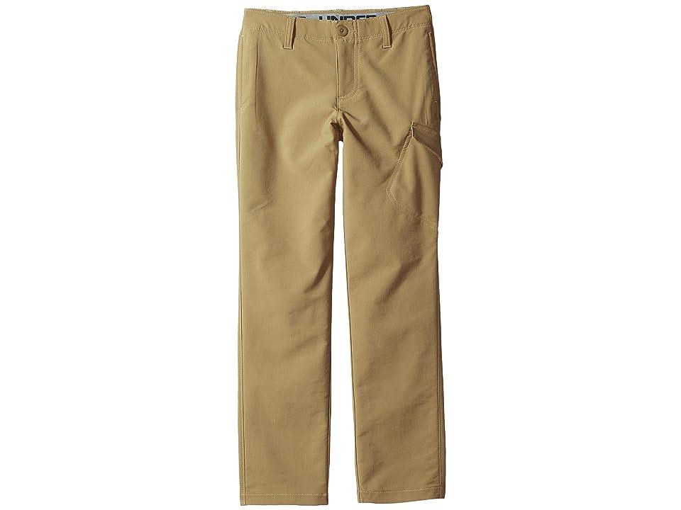 Under Armour Kids Match Play Cargo Pants (Little Kids/Big Kids) (Canvas/Steel/Canvas) Boy's Casual Pants, Brown