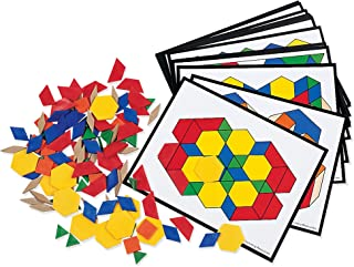 Learning Resources Pattern Block Activity Pack, Geometric Shapes, 160 Pieces, Ages 6+