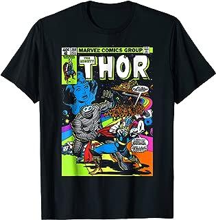 Marvel Thor Retro Comic Neon Poster Graphic T-Shirt