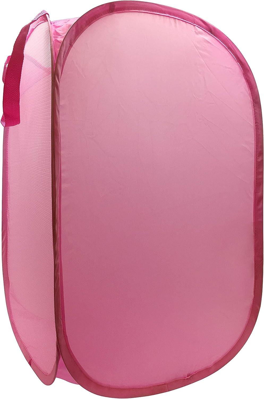 Trend Collector Pink Pop Up Hamper wit Very popular - Sale item Laundry Basket Bag Mesh