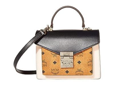 MCM Patricia Visetos Leather Block Satchel Small (Black) Wallet