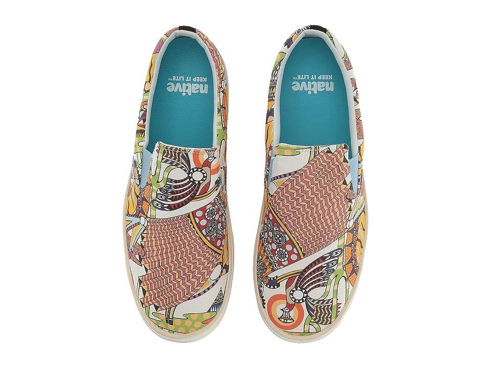 Native Shoes Miles Denim Print (White Wash/Bone White/Ola Volo) Shoes