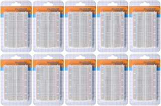 HiLetgo® 10個セット 400穴 miniブレッドボード 実験用ボード 8.5*5.5CM プロトタイプ用 PCB基板キット ニューブレッドボード