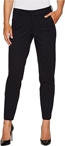 Liverpool - Kelsey Slim Leg Trousers in Windowpane Ponte Knit