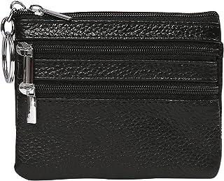 HDE Coin Purse Pocket Change Pouch Holder Keychain Wallet for Men Women (5x3 In)