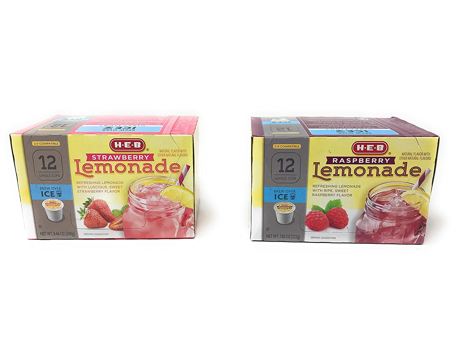 specialty shop Max 61% OFF H.E.B Strawberry and Raspberry Lemonade k-cup; 2.0 Compatible -