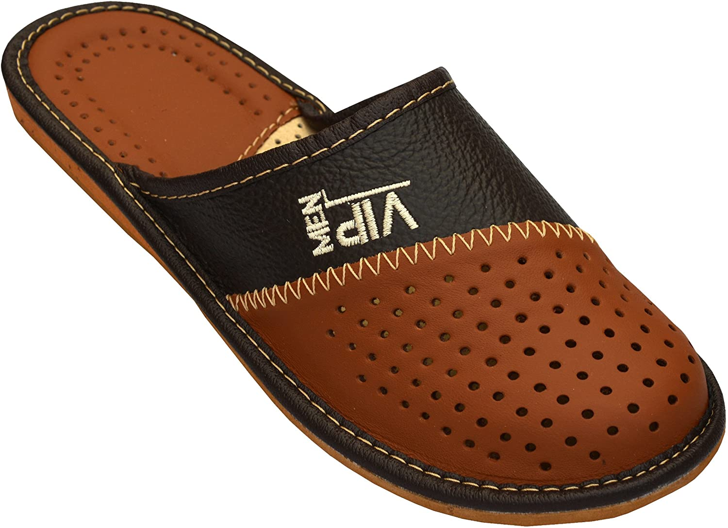 Mens House Slippers   Genuine Leather   _VIP …