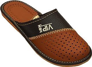 Pantoufles en cuir pour homme_ VIP