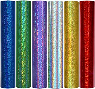 TECKWRAP Holographic Sparkle Adhesive Craft Precut Vinyl Sheets 12