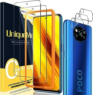 UniqueMe [2+3 Pack Screen Protector voor Xiaomi Poco X3 NFC /X3 Pro Gehard Glas en Camera Lens Protector voor Xiaomi Poco ...