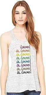 Love is Love is Love. Racerback Flowy Tank