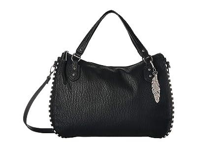 Jessica Simpson Selena East/West Tote (Black 2) Tote Handbags