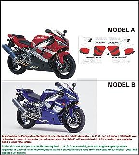 Kit adesivi decal stikers YAMAHA R1 EXUP DELTA BOX 2 2000 RED INDICARE IL MODELLO A o B