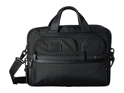 Tumi Alpha 3 T-Pass(r) Medium Screen Laptop Slim Brief (Black) Satchel Handbags