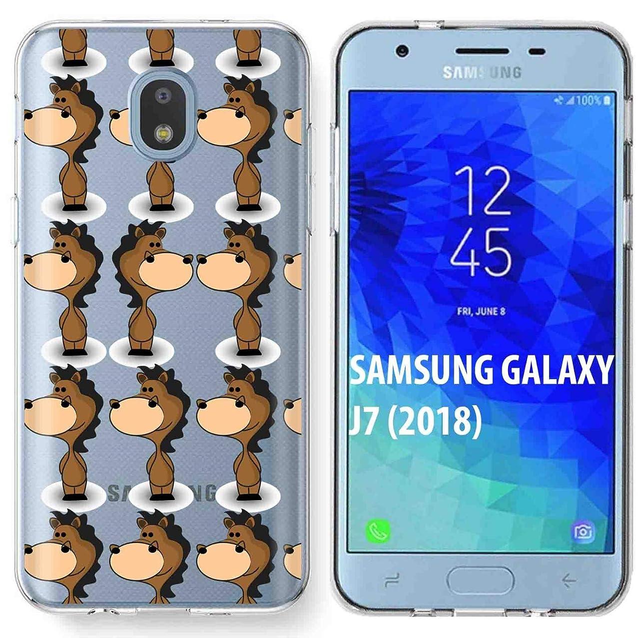 Samsung Galaxy (J7 2018) (J737) Case [TalkingCase] Premium Thin Gel TPU Phone Cover Samsung J7 Refine/J7 Star/J7 Aero/J7 V 2nd Gen/J7 Crown/J7 Aura/J7 Top [Horse One Zodiac] Design