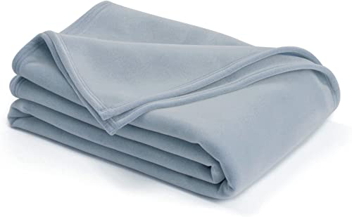 The Original Vellux Blanket - King, Soft, Warm, Insulated, Pet-Friendly, Home Bed & Sofa - Wedgewood Blue