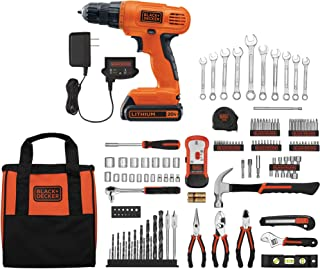 Black & Decker 20V Lithium Home Project Kit with 128-Piece Accessories