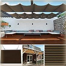 PENGFEI Intrekbare Pergola Luifel Schaduw Cover, Balkon Wave Luifel, 90% UV-bescherming Zonneschermen Zeil voor Achtertuin...