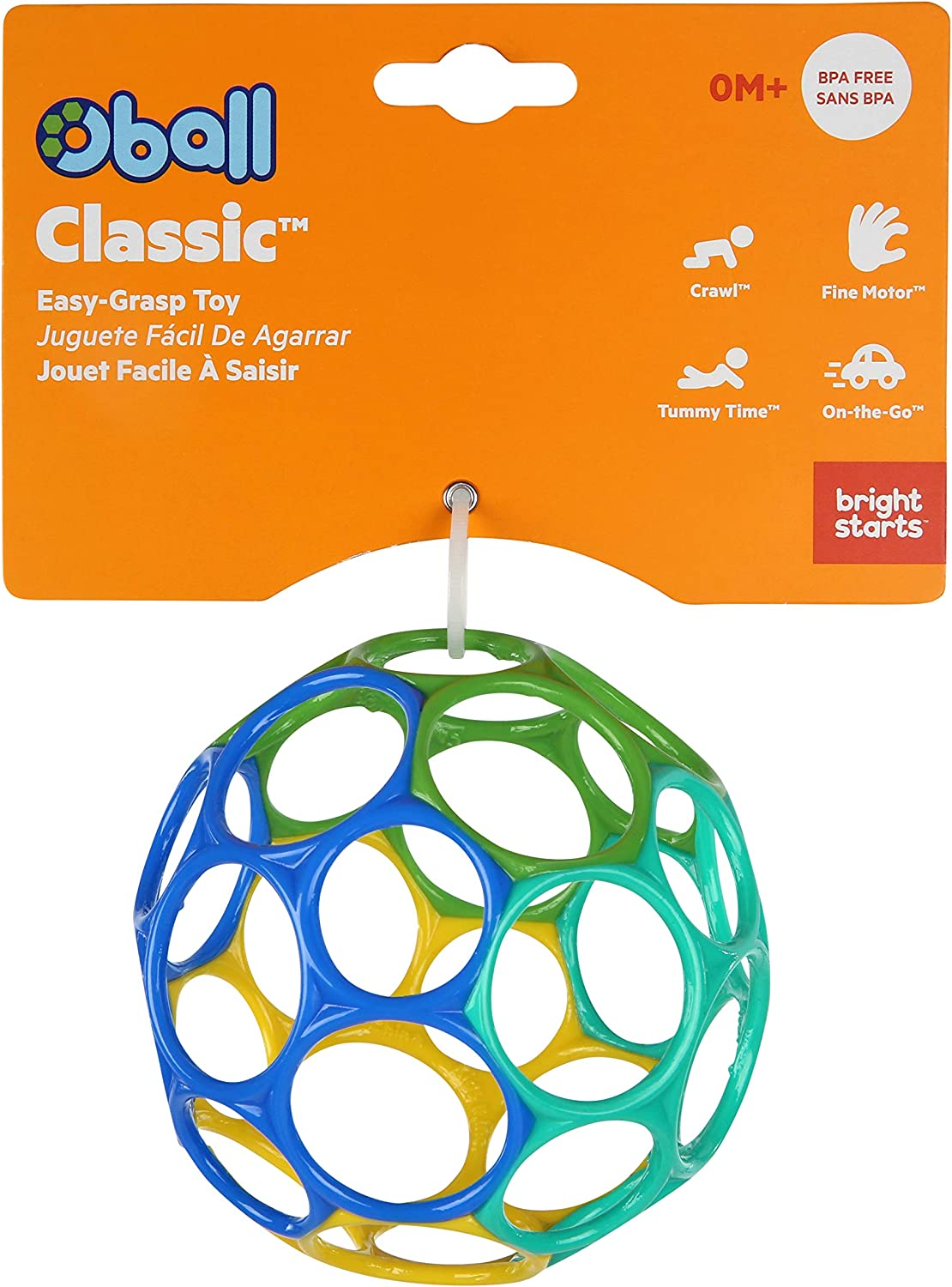 Bright Starts Oball Classic Easy-Grasp Toy