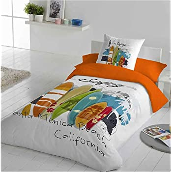 COTTON ART- Funda Nórdica Infantil/Juvenil Surf Cama de 105 ...
