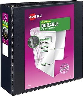 Avery 09800 Vinilo Negro - Carpeta de cartón (Vinilo, Negro, 780 hojas, 10.2 cm)