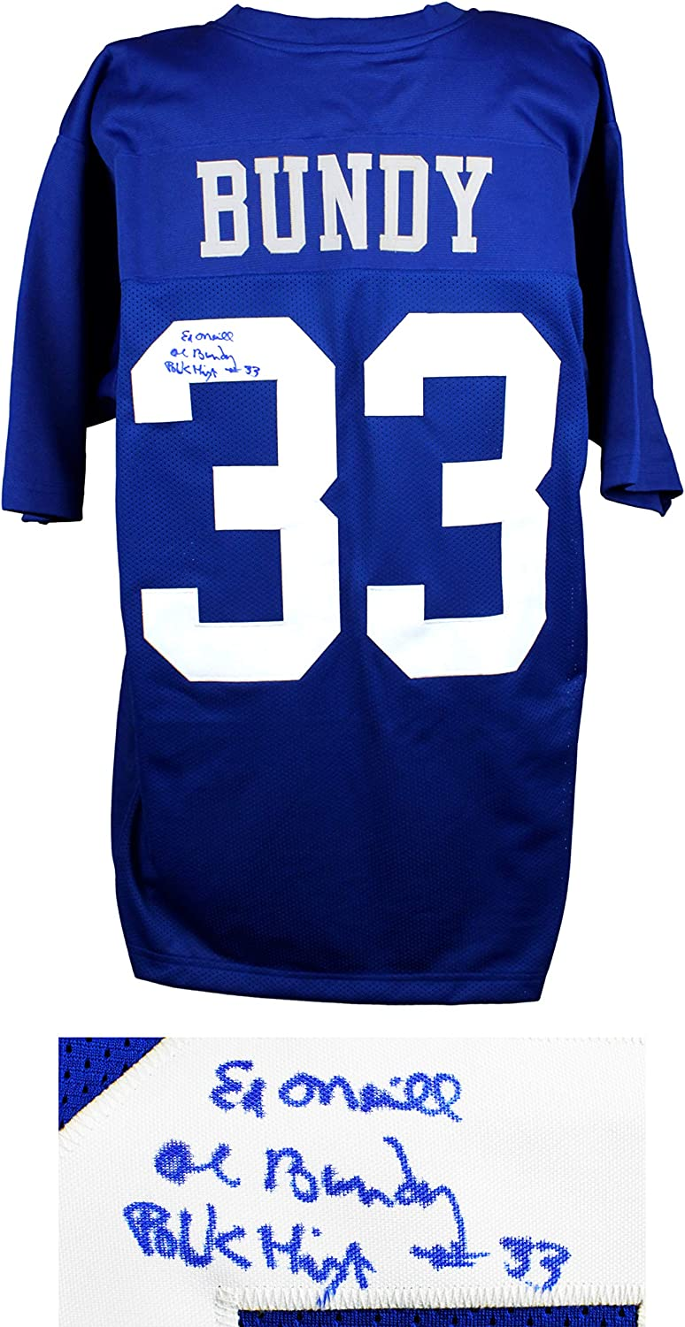 Ed O'Neill Al Bundy  33 Polk High bluee Football Jersey w Al Bundy, Polk High  33