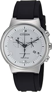 Citizen Men's Eco-Drive Stainless Steel Japanese-Quartz Watch with Polyurethane Strap, Black, 21.5 (Model: AT2400-05A)