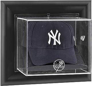 New York Yankees Black Framed Wall-Mounted Logo Cap Display Case - Baseball Hat Logo Display Cases